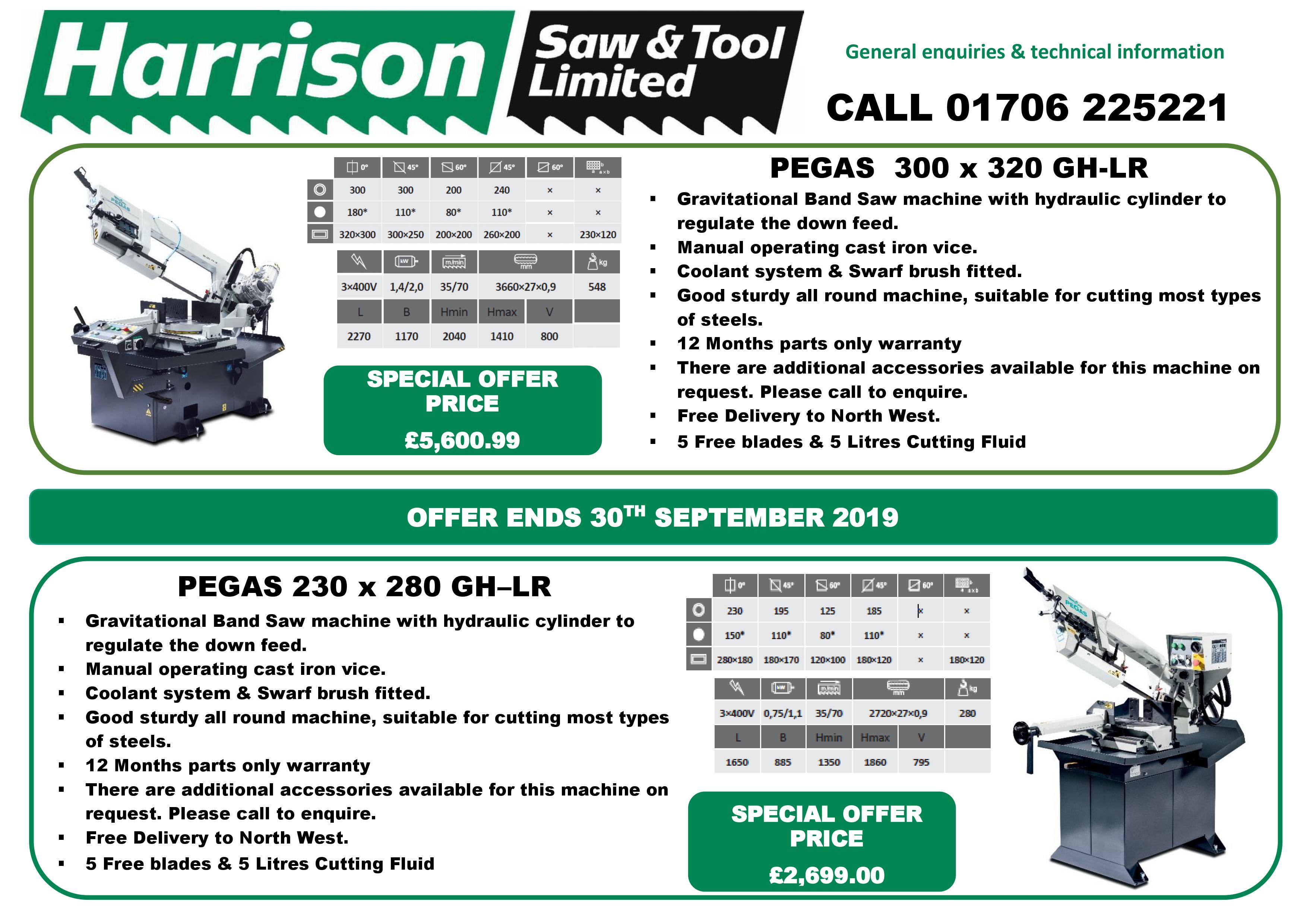 Pegas Bandsaw Machine Offer