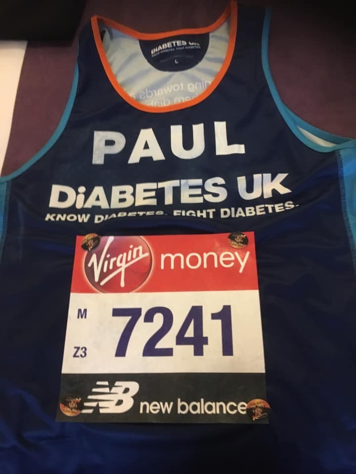 LONDON MARATHON FOR DIABETES UK